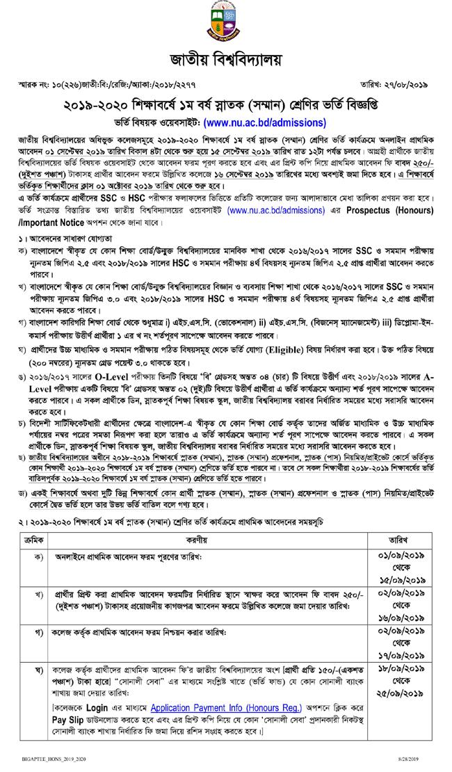 nu-admission-result- 2019