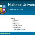 nu result website national university 2020